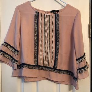 Fringed Blouse in Blush | Romeo & Juliet Couture
